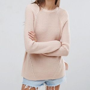 ASOS Blush Ultimate Chunky Crew Neck Sweater